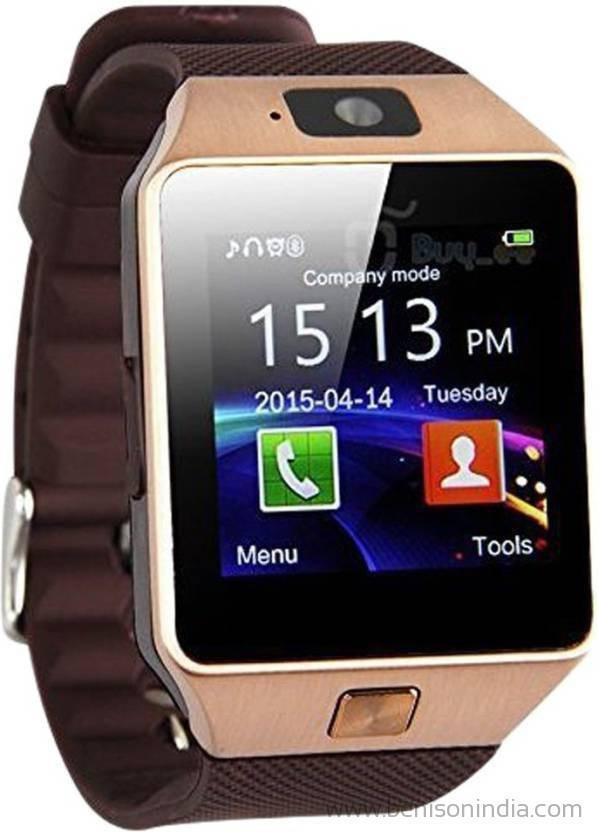 Benison India Smartwatch with SIM Slot & Memory Card Slot, Bluetooth and Fitness Tracker (Multicolour)-Benison India-Brown-Benison India