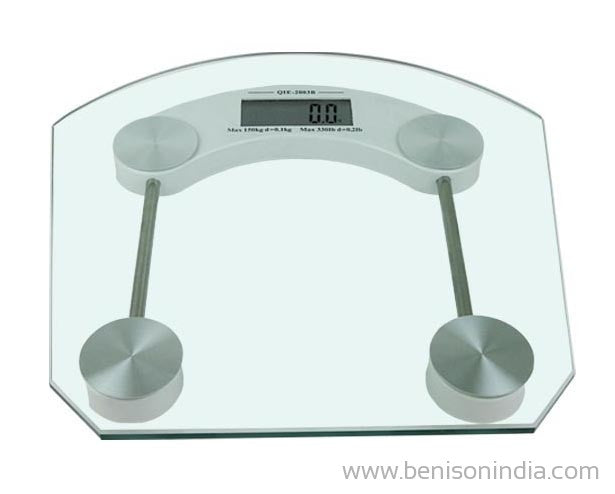 Benison India Square Thick Tempered Glass Electronic Digital Health Body Weight Weighing Scale-Benison India-Benison India