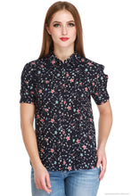Benison India Starry Night Top with Puffed Sleeves-Benison India-Benison India