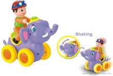 Benison India Swing Animal Show Lovely Elephant with Four Wheels-Benison India-Benison India