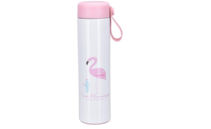Benison IndiaCartoon Flamingo Thermo Mug Stainless Steel Vacuum Flasks Thermoses Women My Water Bottle Insulated thermos Thermocup Bottles-Benison India-Benison India