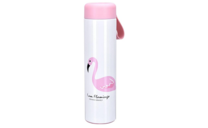 Benison IndiaNew Thermos Cup Cartoon Flamingo Vacuum Flask Cup Stainless Steel Water Bottle Travel Coffee Mug Thermal Bottle Kids Tumbler-Benison India-Benison India