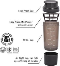 Benison India™ Cyclone Protein Shaker bottle-Benison India-Black-Benison India