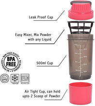 Benison India™ Cyclone Protein Shaker bottle-Benison India-Pink-Benison India