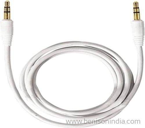 CALLONE AUX to AUX Cable(Golden Pin) - 1 MTR(Round)-CallOne-Benison India