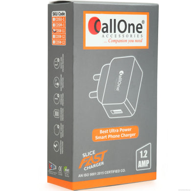 Callone Best Ultra Power Smart Phone charger 1.2 Amp- Micro USB-Mobile Accessories-Callone-White-Benison India