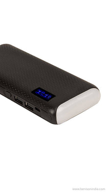 CallOne Brand 13000 mAh Turbo Power Bank with Digi Top LED Light(Compatibile for Mobile/Smart Phones, Cameras, Tablets & other Similar Devices)- Black-Callone-Benison India