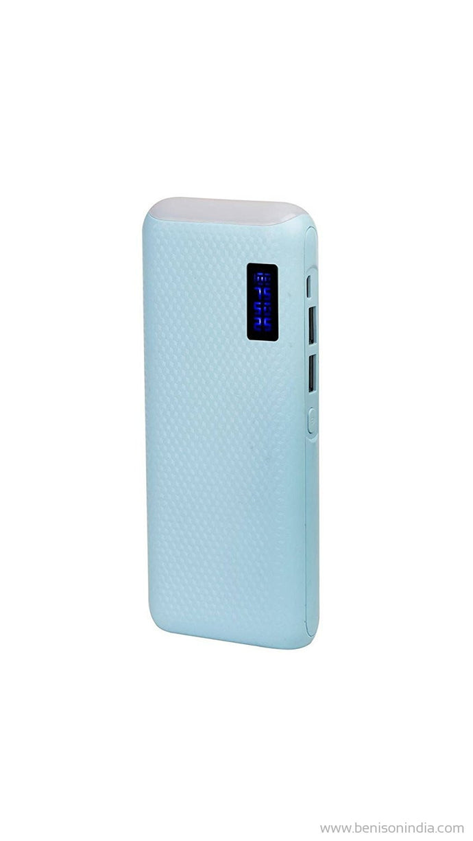 CallOne Brand 13000 mAh Turbo Power Bank with Digi Top LED Light(Compatible for Mobile/Smart Phones, Cameras, Tablets & other Similar Devices)- Blue-Callone-Benison India
