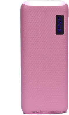 CallOne Brand 13000 mAh Turbo Power Bank with Digi Top LED Light(Compatible for Mobile/Smart Phones, Cameras, Tablets - Pink)-Callone-Benison India