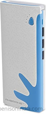 CallOne Brand 13000 mAh Turbo Power Bank with TOP FOLD LED lamp light & 3 Output Ports(Universal Compatibility for Mobile/Smart Phones, Cameras, Tablets & other Similar Devices) -Blue-Callone-Benison India