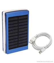 CallOne Turbo Solar Charging Power Bank 13000 mAh with 20 LED Torch Light (Blue)-Mobile Accessories-CallOne-Benison India