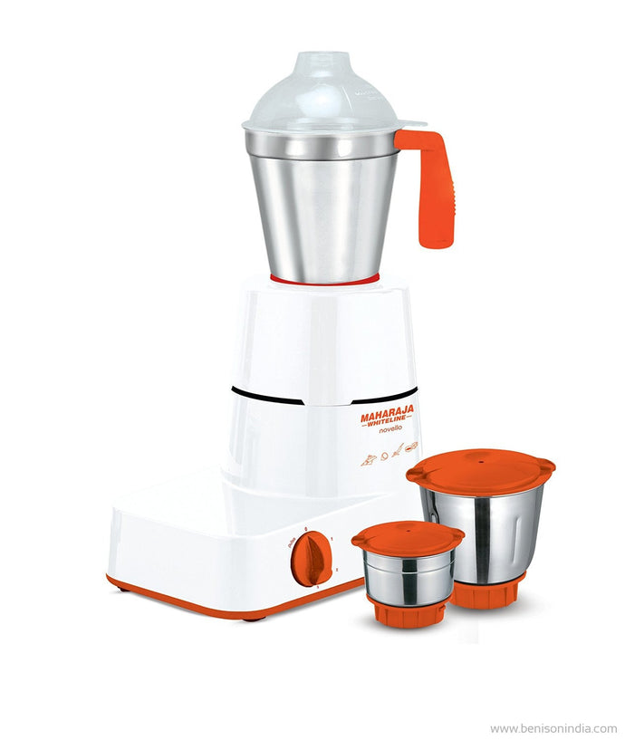 Maharaja Whiteline MX-141 MG Novello 500-Watt Mixer Grinder-Maharaja Whiteline-Benison India