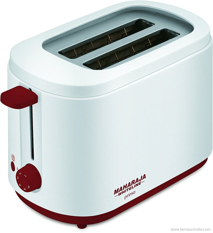 Maharaja Whiteline Primo Pop Up 750-Watt Pop Up Toaster (Red and White)-Maharaja Whiteline-Benison India