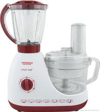 Maharaja Whiteline Smart Chef FP-100 600-Watt Food Processor (White and Red)-Maharaja Whiteline-Benison India