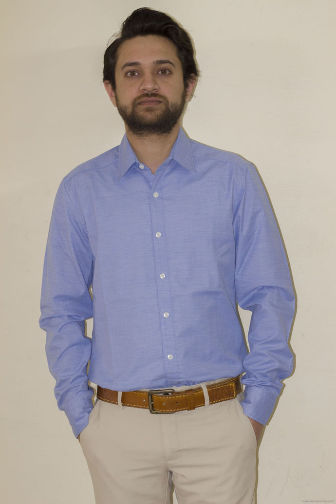 Shop Online For Trendy Formal Cotton Shirts For Men Blue Benison
