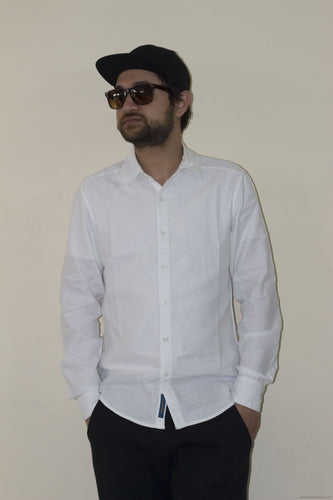 Trendy Formal Cotton Shirts for Men-White-Men's Clothing-LeebaZone-Benison India