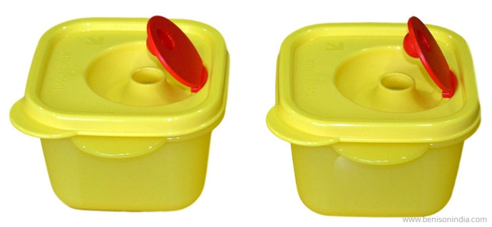 Tupperware crystal wave mini square (Set of 2)-Tupperware-Benison India