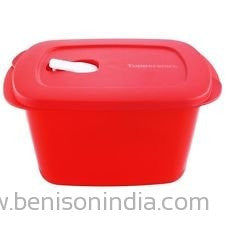 Tupperware Crystalwave Rectangular Storage Container-2.3 Ltr-1 Pc -Red-Tupperware-Benison India