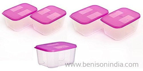 Tupperware Freezer Mate Container Set, 700ml, Set of 5-Tupperware-Benison India