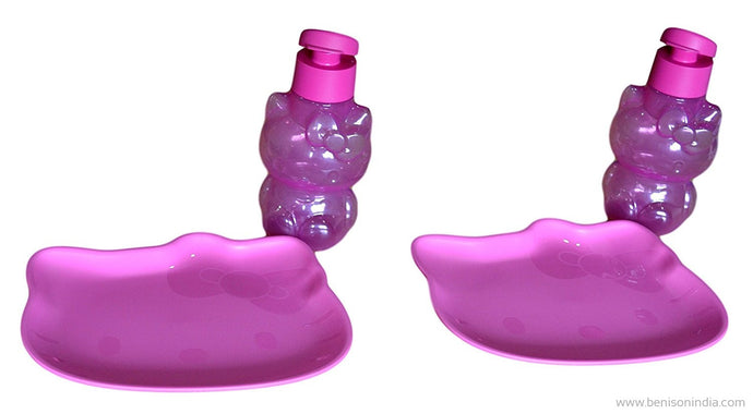 Tupperware Hello kitty plate & bottle (Set of 2)-Tupperware-Benison India