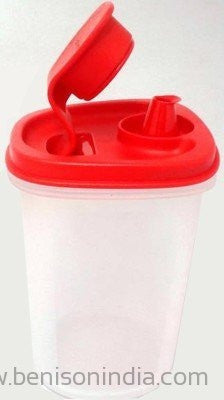 Tupperware Magic Flow Plus Plastic Oil Dispenser, 440ml, Multicolour-Tupperware-Benison India