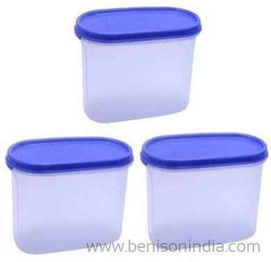 Tupperware Modular Mates Oval 3 Container Set, 1.7 Litres, 4-Pieces-Tupperware-Benison India