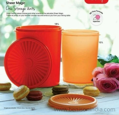 Tupperware Sheer Magic Container - Set Of 2 Pcs (1.9 L & 1.2 L)-Tupperware-Benison India