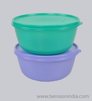 Tupperware SS Medium Bowl, 1.5 Litres, Set of 2-Tupperware-Benison India