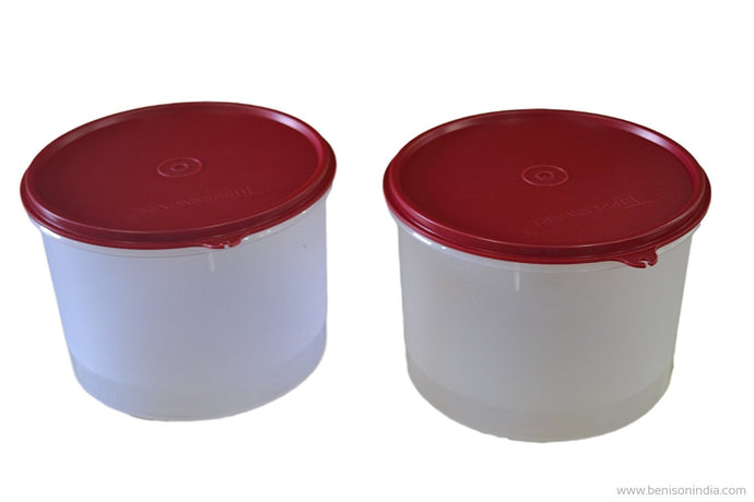 Tupperware Super Storer Plastic Container Set, 2.5 Litres, Set of 2, Multicolour-Tupperware-Benison India
