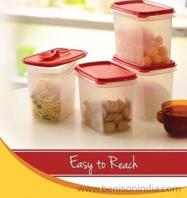Tupperware Within Reach Canister 1.2Ltr Set Of 4Pcs-Tupperware-Benison India