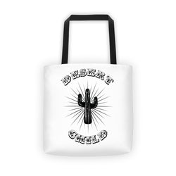 desert child cactus country tote bag