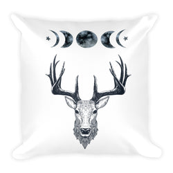 counrty qypsy throw pillow deer moon phases