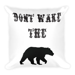 Don't wake the bear country throw pillow