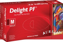 Aurelia Delight® 100 Powder-Free Vinyl Examination Gloves - MediKore