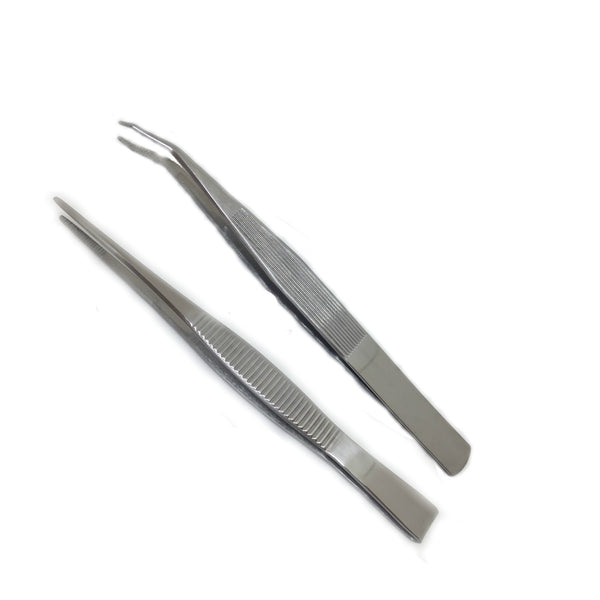 Blunt End Stainless Steel Tweezers - MediKore