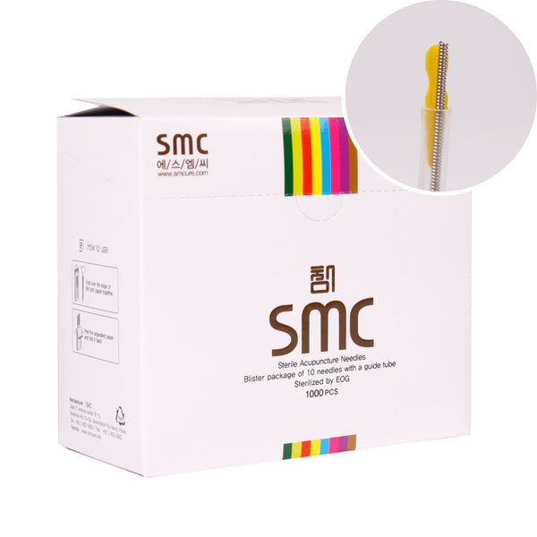 MediKore SMC Body Acupuncture Needles (1 Needle per Guide Tube, 100 pcs x 10 boxes, 1,000pcs) - MediKore