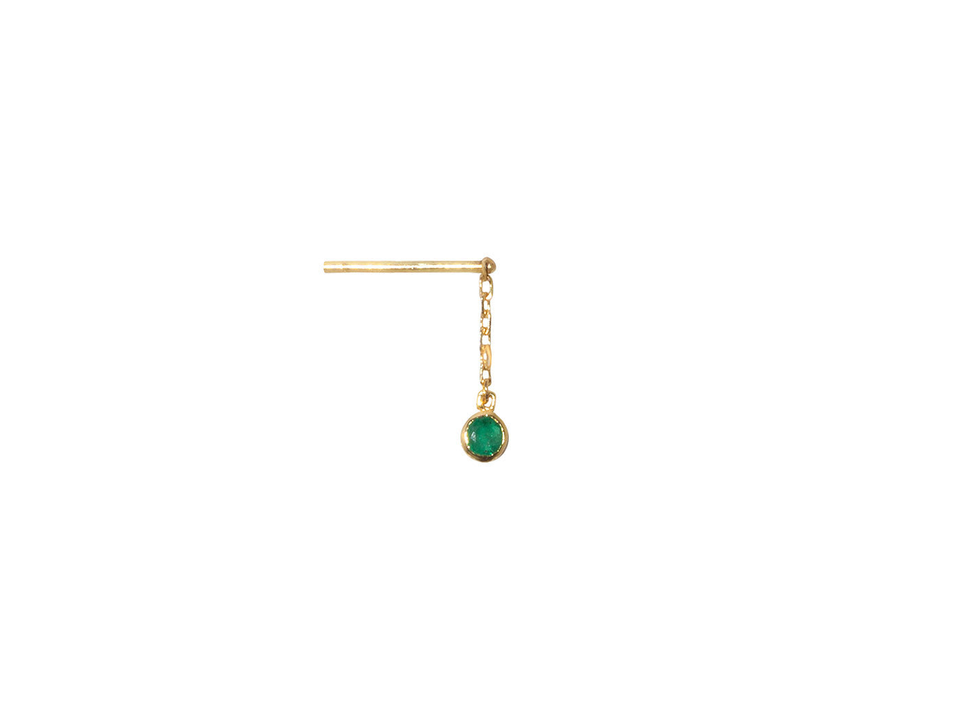 JAMES EMERALD EARRING
