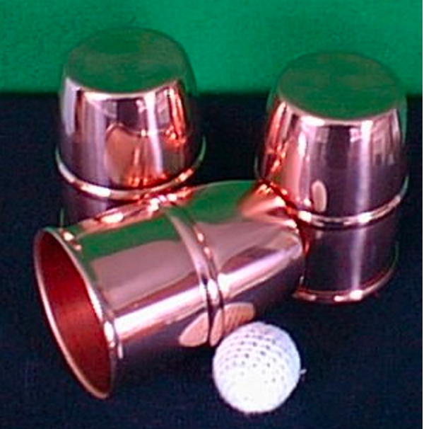 Cups (for Cups & Balls) - copper