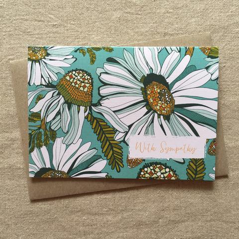 Daisy With Sympathy Card