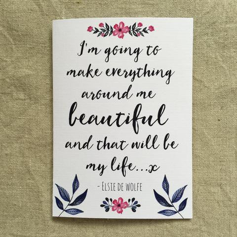 Make Everything Beautiful Card
