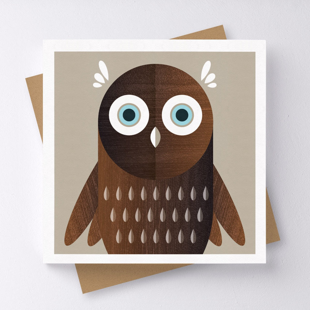 Little Hoot Mini Greeting Card