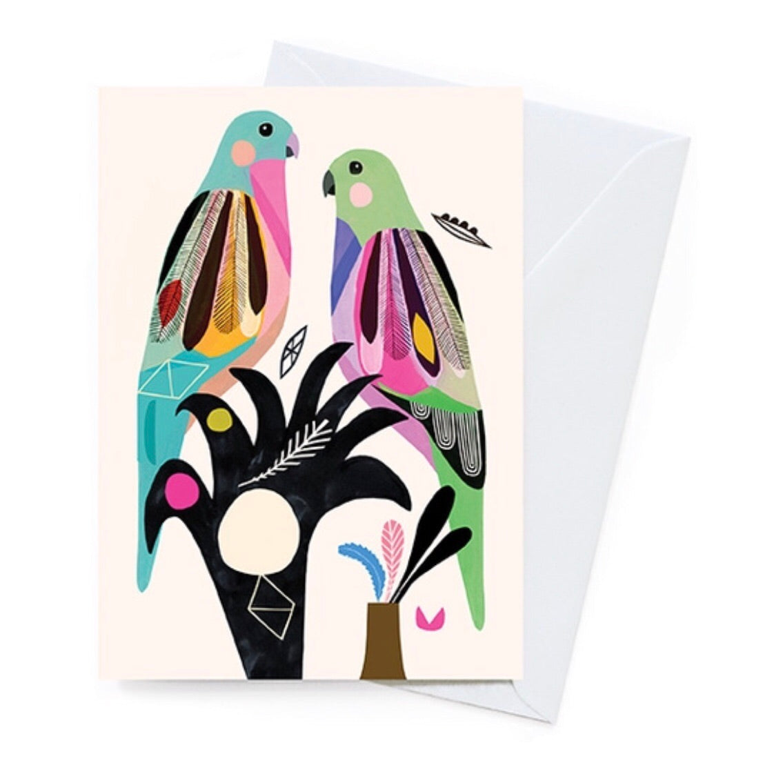Greeting Card - Princess Parrot