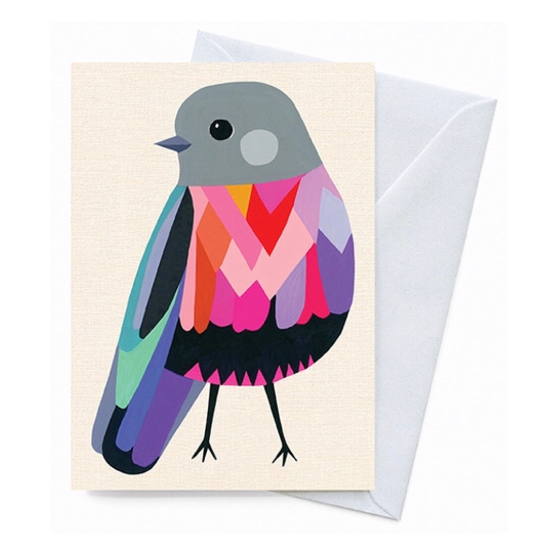 Greeting Card - Rose Robin