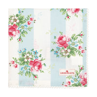 GreenGate Cotton Napkin with Lace Marie Pale Blue 40 x 40cm