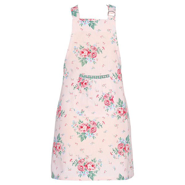 GreenGate Cotton Child Apron Marley Pale Pink W 52 cm, L 65 cm