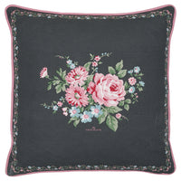 GreenGate Cotton Cushion Cover Marley Dark Grey Pieceprinted 50 x 50 cm