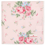GreenGate Cotton Napkin With Lace Marley Pale Pink 40 x 40 cm