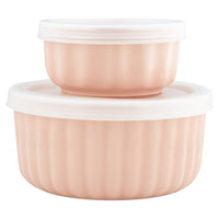 GreenGate Ramekin Alice Pale Pink with Lid Set of 2 H 6,5 cm D 13.2 cm