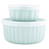 GreenGate Ramekin Alice Pale Blue with Lid Set of 2 H 6,5 cm D 13.2 cm