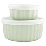 GreenGate Ramekin Alice Pale Green with Lid Set of 2 H 6,5 cm D 13.2 cm